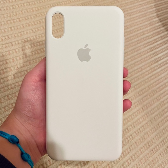Apple iPhone XS Max Silicone Case in White